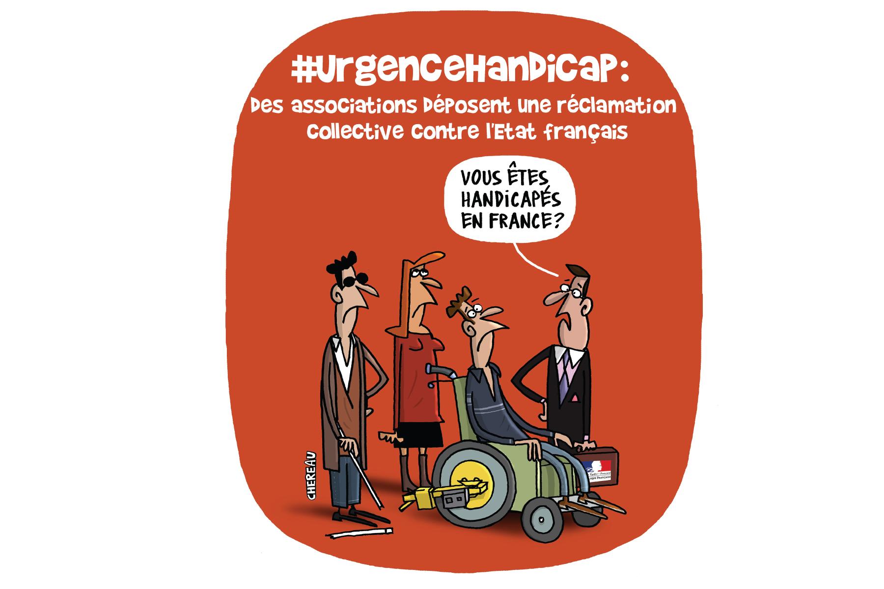 #UrgenceHandicap : réclamation collective contre l'Etat français