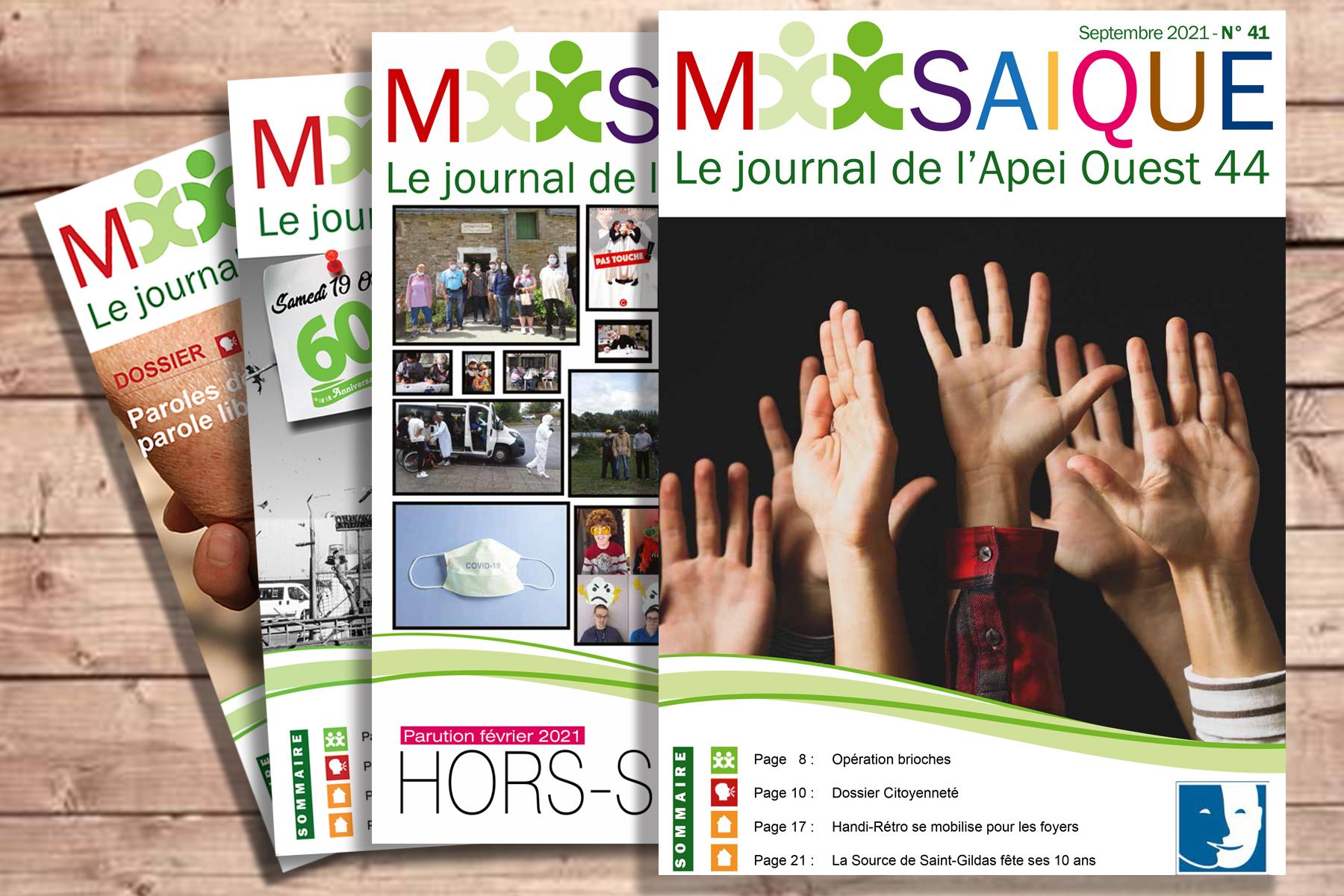 Mosaïque est en ligne, découvrez le journal de l'association !